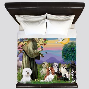 StFrancis-10 dogs King Duvet